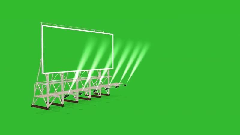 绿屏抠像户外大屏幕视频素材