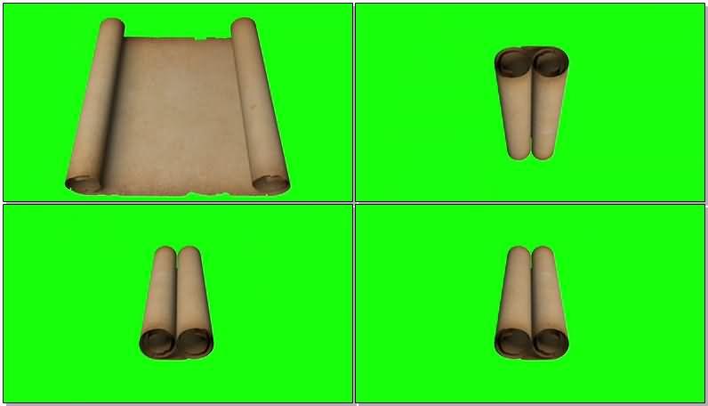 绿屏抠像打开的旧式牛皮纸.jpg
