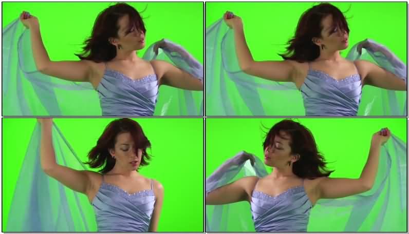 绿屏抠像性感美女写真视频素材