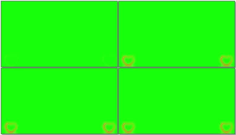 绿屏抠像火焰爱心视频素材