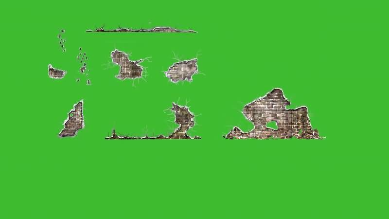 绿屏抠像倒塌的破损墙壁.jpg