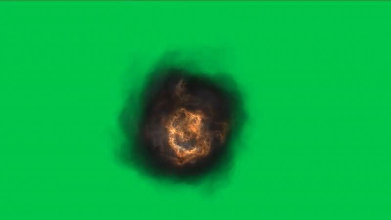 绿屏抠像各种爆炸黑烟视频素材