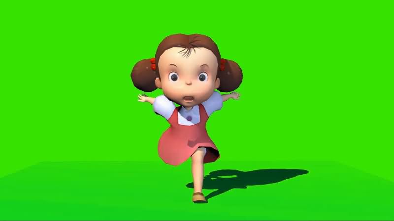 绿屏抠像奔跑的小女孩.jpg