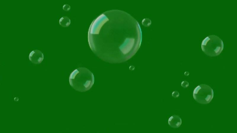 绿屏抠像透明气泡视频素材