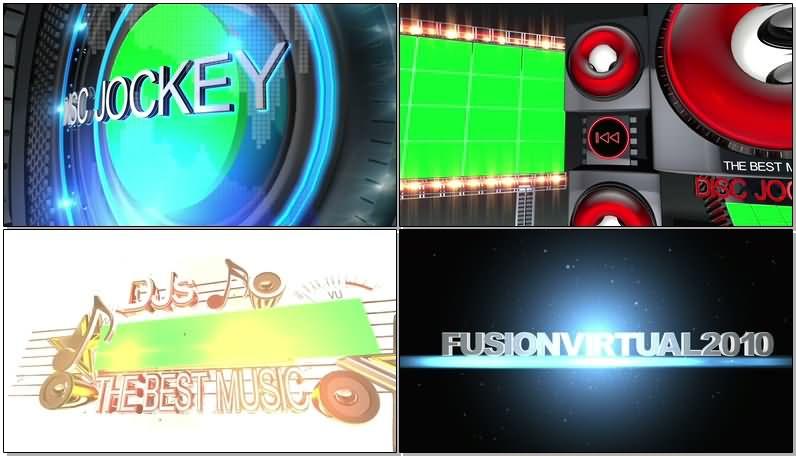 绿屏抠像迪斯科音响射灯大屏幕视频素材