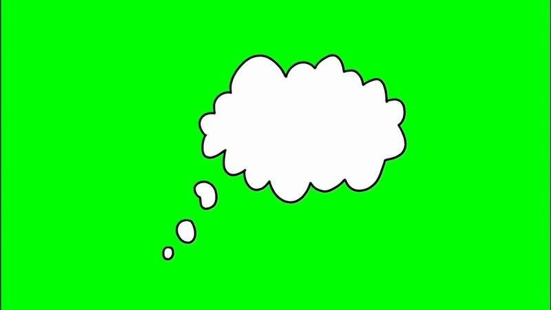 绿屏抠像思考的云朵视频素材