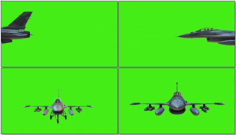 绿屏抠像F22战斗机视频素材