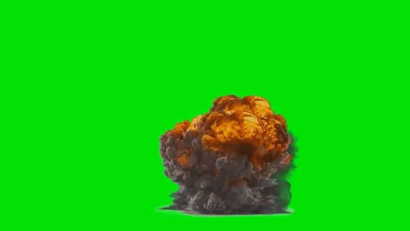 绿屏抠像大爆炸烟雾视频素材