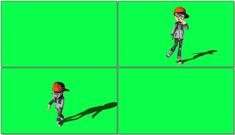 绿屏抠像跳街舞的男孩.jpg