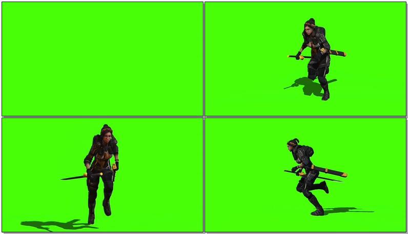 绿屏抠像奔跑的女武士.jpg