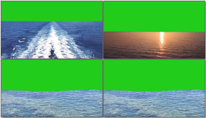 绿屏抠像大海海浪视频素材