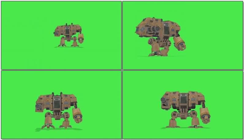 绿屏抠像战斗的巨型机器人视频素材