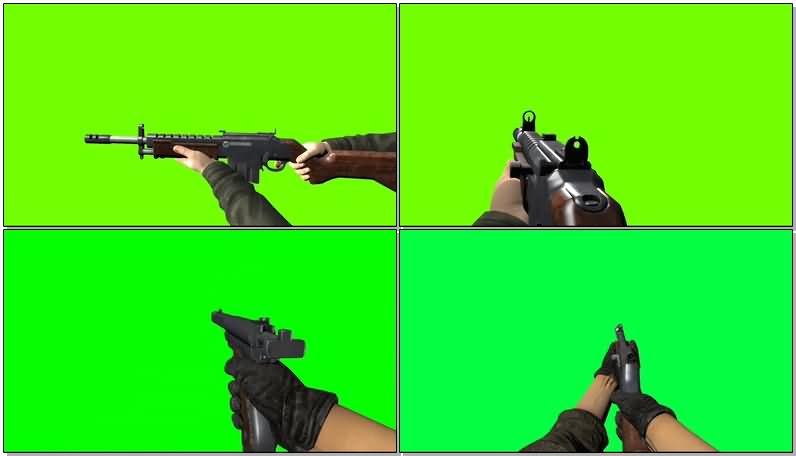 绿屏抠像第一视角吃鸡开枪射击.jpg