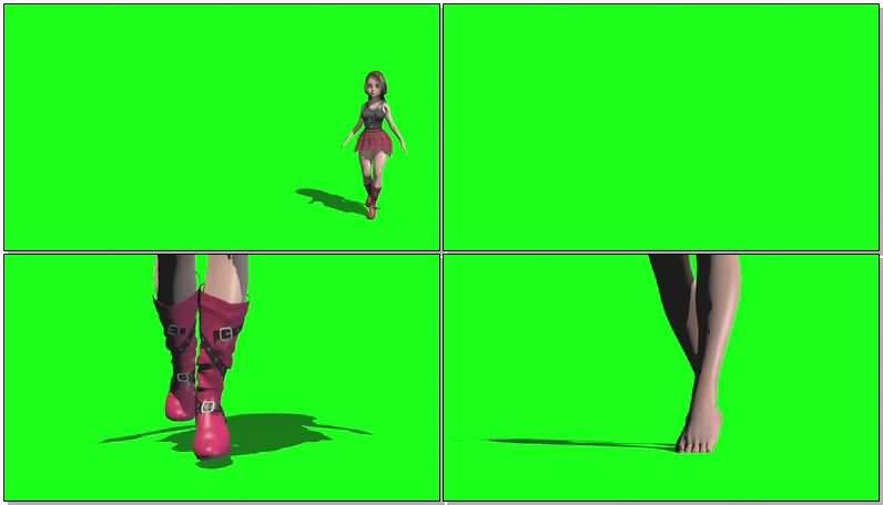 绿屏抠像走路的女孩.jpg
