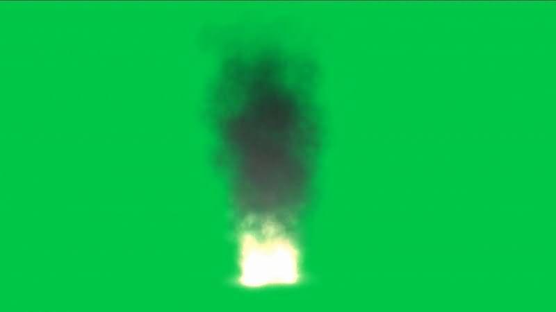 绿屏抠像火焰烟火视频素材