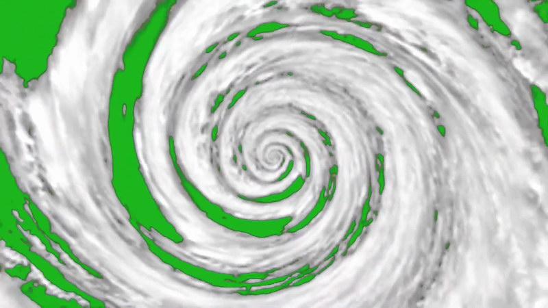 绿屏抠像飓风漩涡视频素材