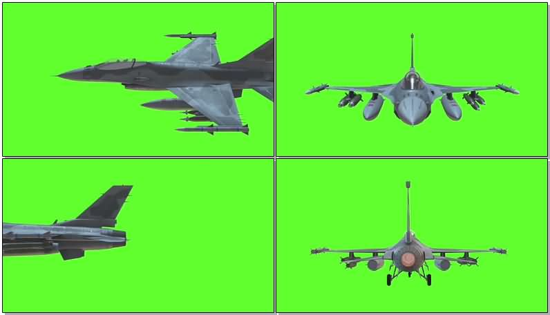 绿屏抠像战斗机视频素材