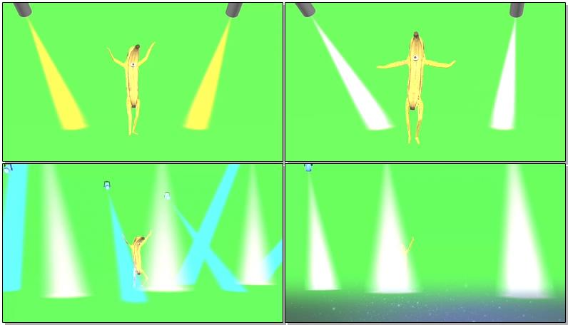 绿屏抠像跳舞的香蕉视频素材