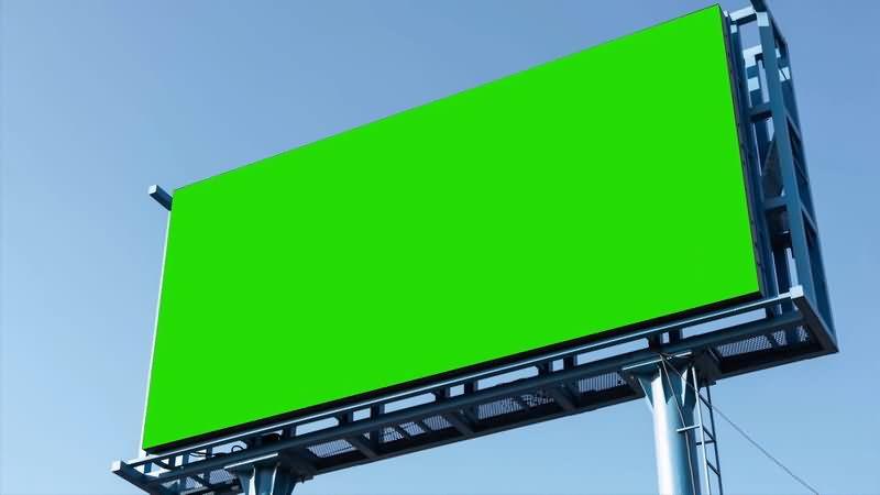 绿屏抠像户外大型广告牌视频素材