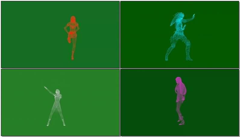 绿屏抠像全息投影人物跳舞.jpg