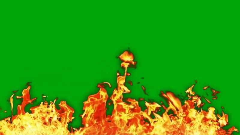 绿屏抠像燃烧的大火视频素材