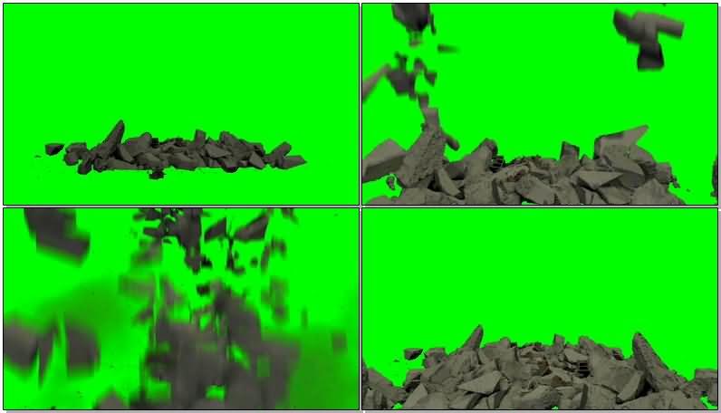 绿屏抠像倒塌的碎砖墙体.jpg