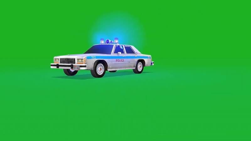 绿屏抠像行驶的警车.jpg
