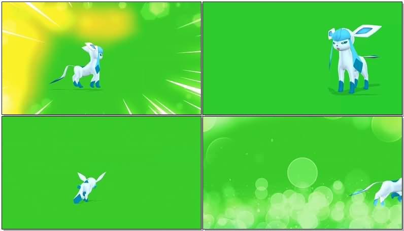 绿屏抠像口袋妖怪冰伊布.jpg
