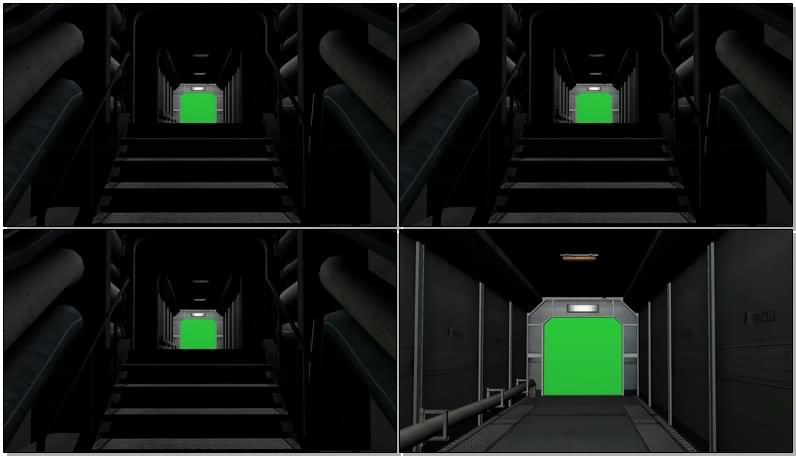 绿屏抠像黑暗的走廊通道.jpg