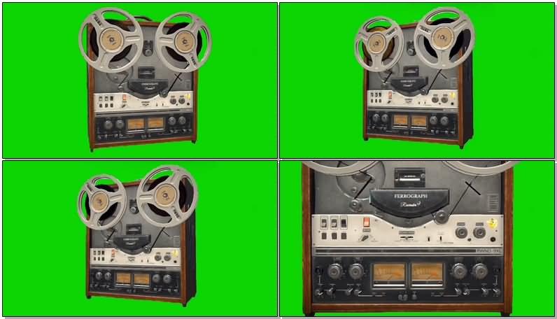 绿屏抠像老式卷筒录音机.jpg