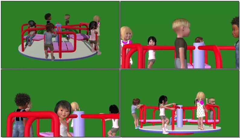 绿屏抠像玩旋转木马的孩子.jpg