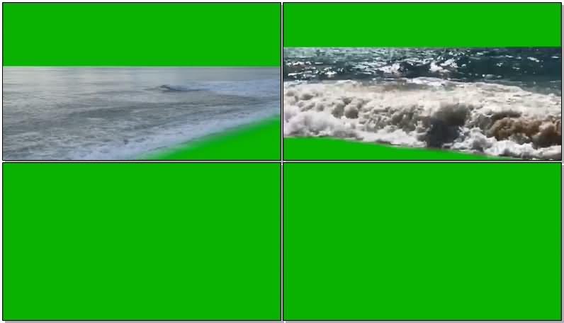 绿屏抠像大海海面视频素材