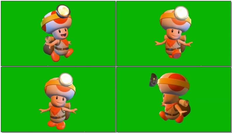 绿屏抠像蘑菇队长宝藏追踪视频素材