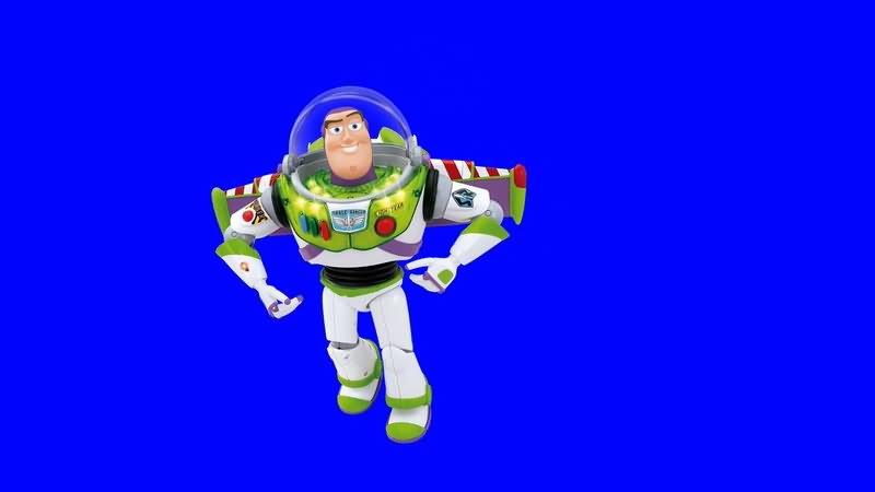 绿屏抠像玩具总动员巴斯光年视频素材