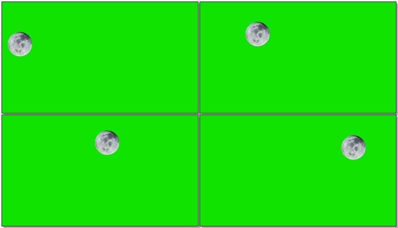 绿屏抠像月球月亮视频素材