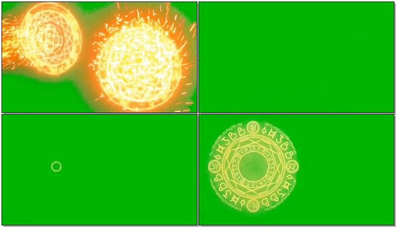 绿屏抠像奇异博士魔法圆圈视频素材