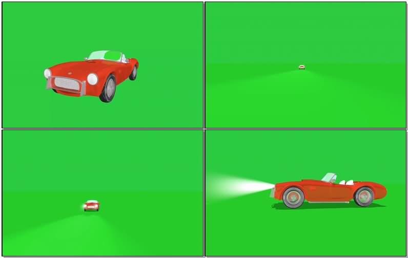 绿屏抠像敞篷老爷车视频素材