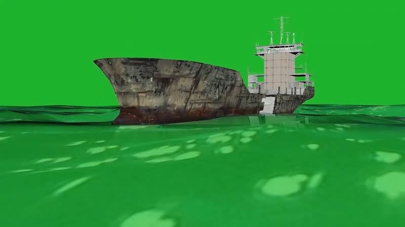 绿屏抠像大型轮船视频素材