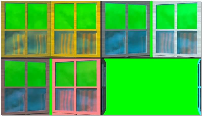 绿屏幕抠像窗户视频素材