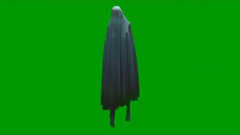绿屏幕抠像人形幽灵视频素材