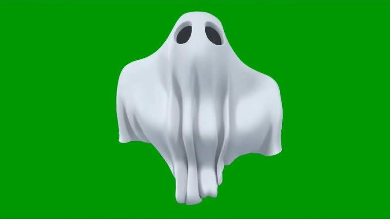 绿屏幕抠像幽灵视频素材