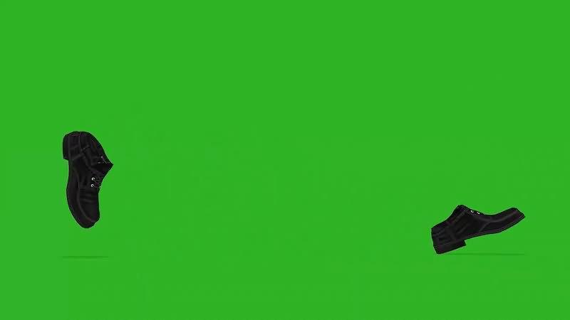 绿屏幕抠像走路的鞋子.jpg