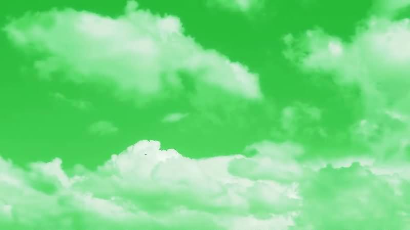 绿屏幕抠像白云视频素材