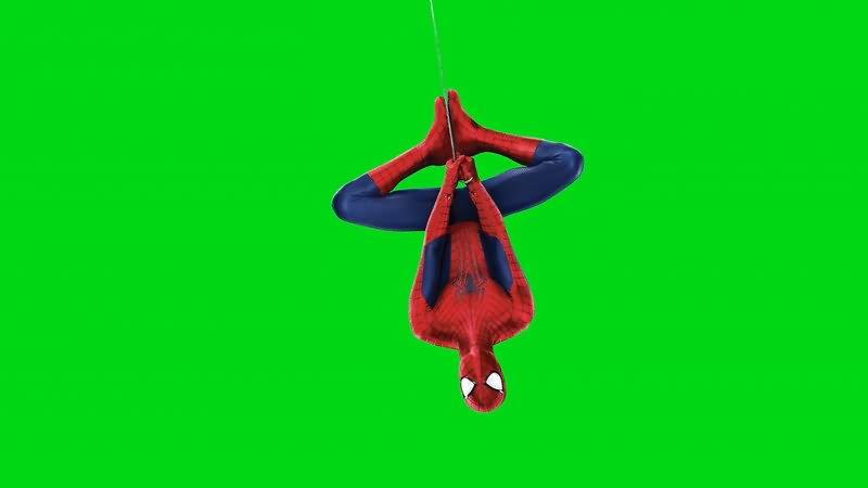 绿屏幕抠像蜘蛛侠视频素材