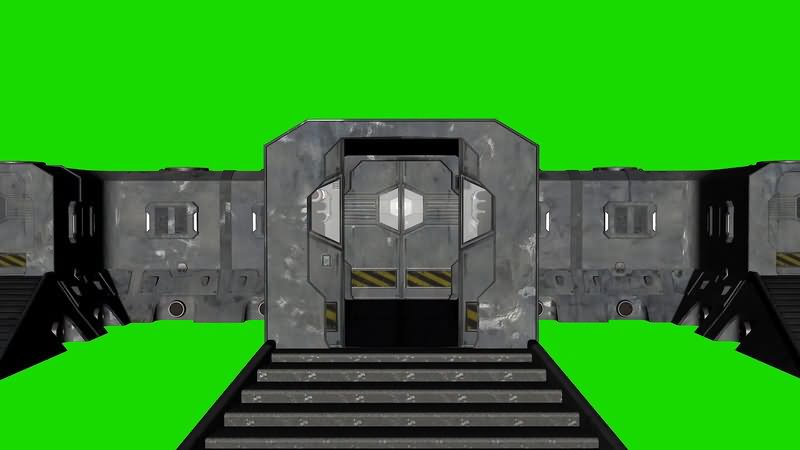 绿屏幕抠像大型基地视频素材