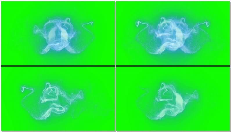 绿屏幕抠像粒子风暴视频素材