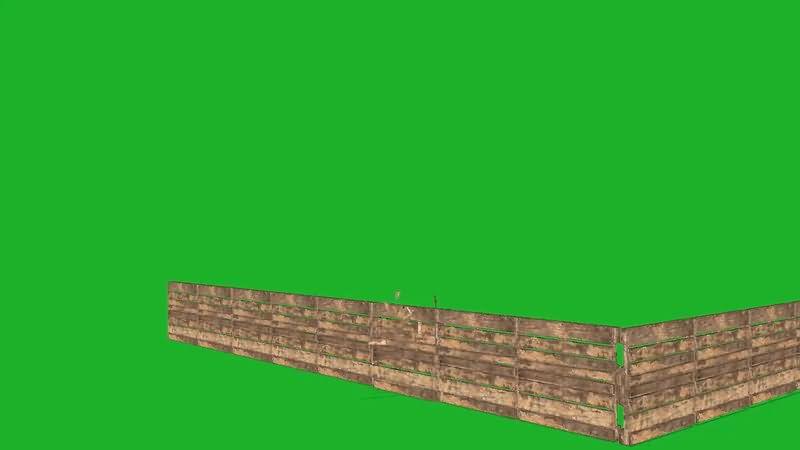 绿屏幕抠像木栅栏视频素材