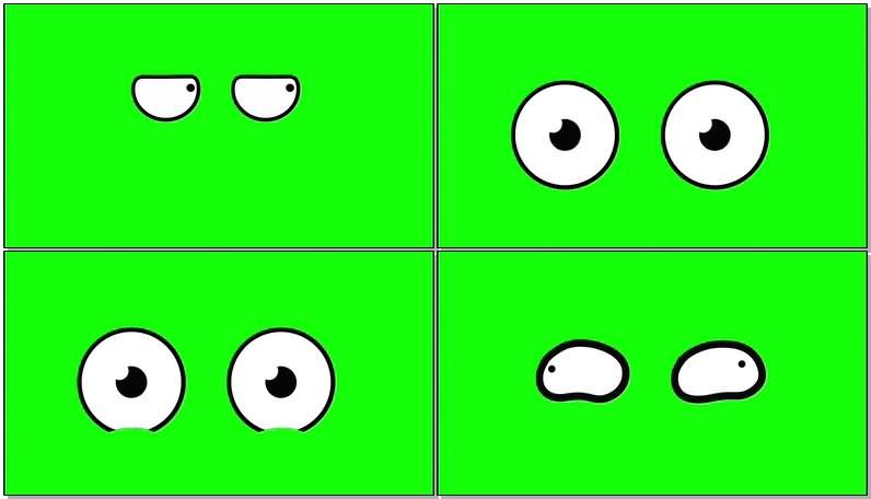 绿屏幕抠像卡通眼睛视频素材