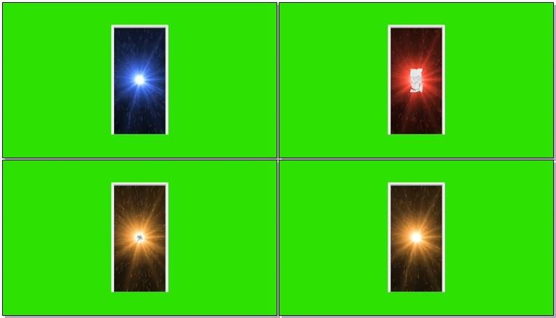 绿屏幕抠像时空穿梭门视频素材