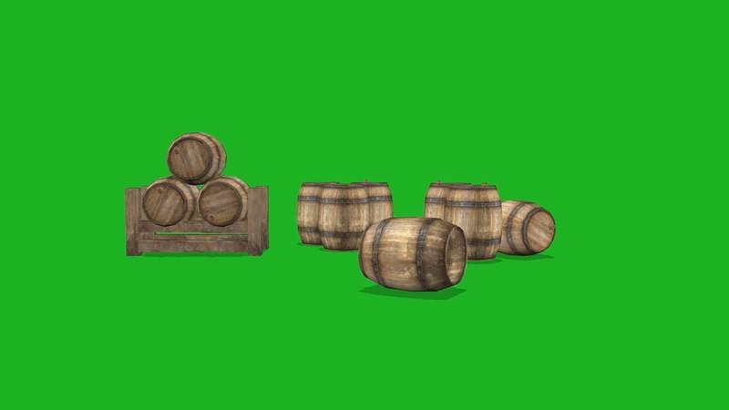 绿屏幕抠像木桶视频素材